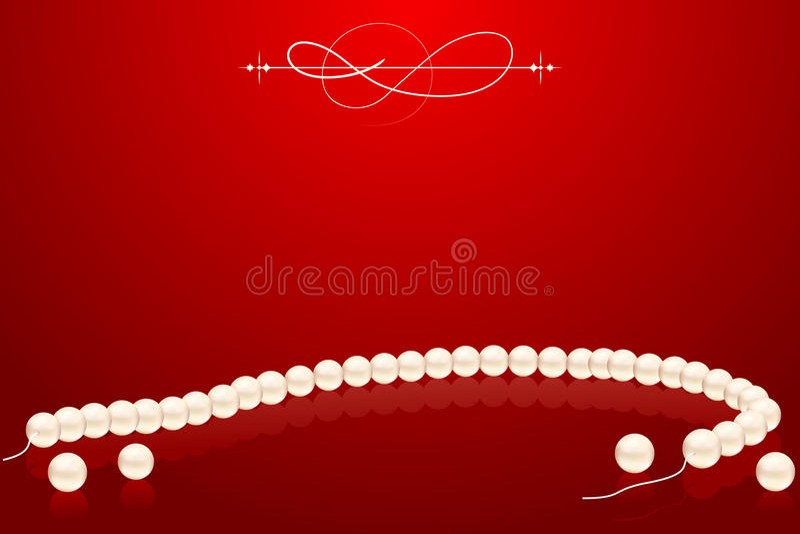 Collana della perla royalty illustrazione gratis