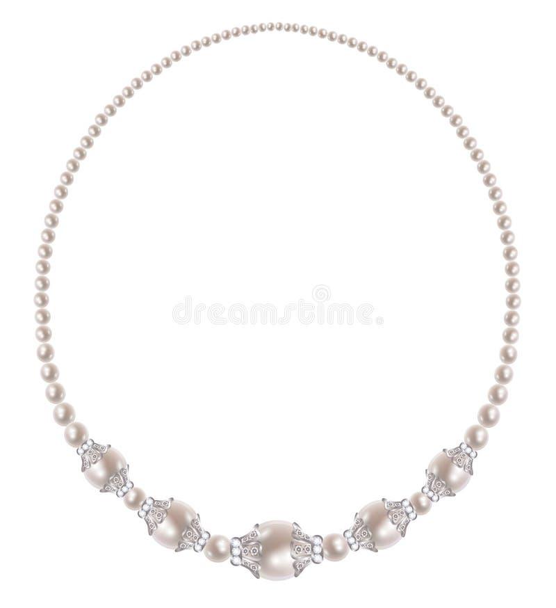 Collana della perla illustrazione vettoriale