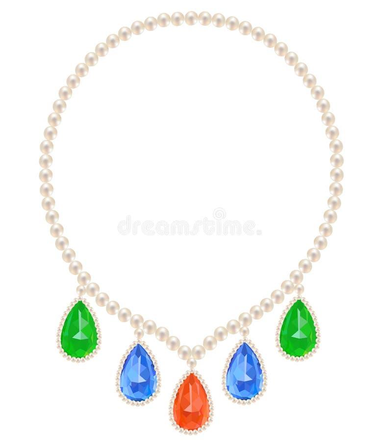 Collana della perla illustrazione di stock