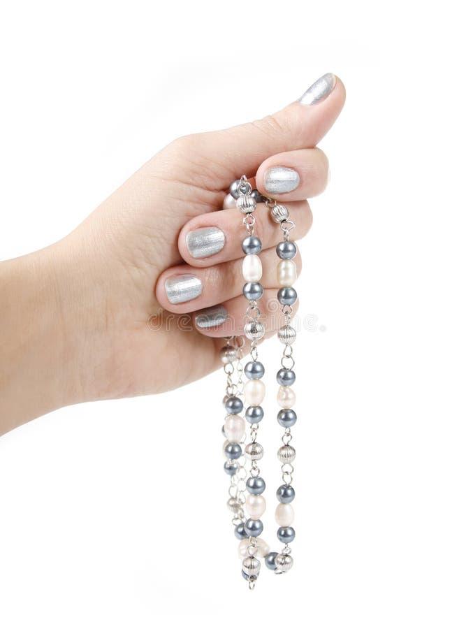 Collana della perla disponibila fotografie stock libere da diritti