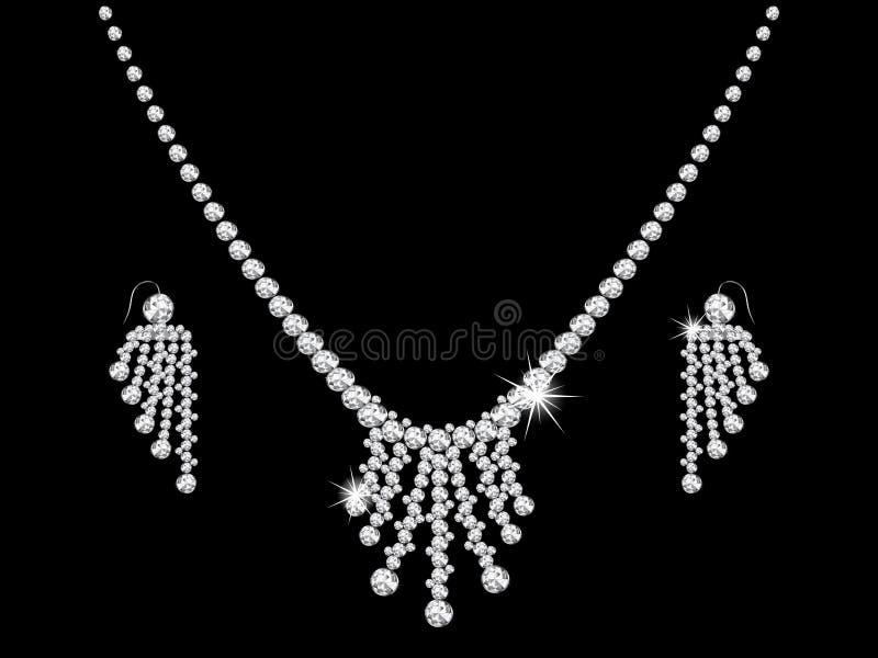 Collana di diamante illustrazione vettoriale