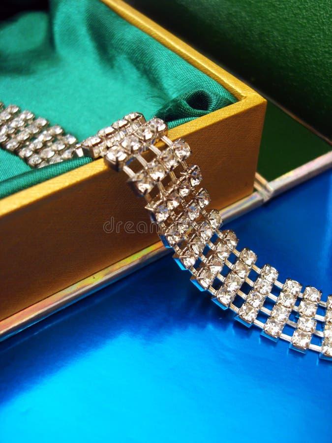 Collana di diamante fotografie stock
