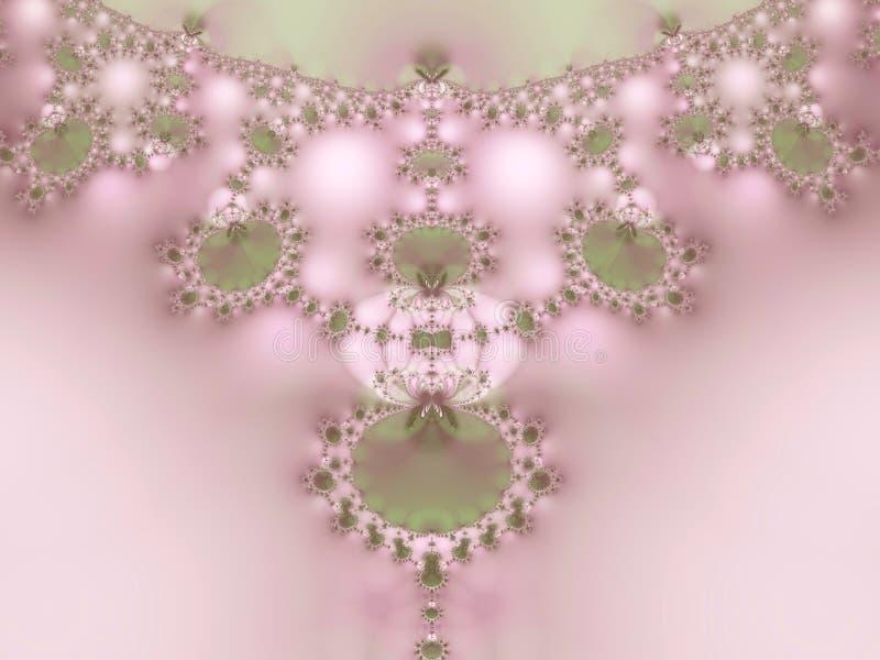 Collana di frattalo del merletto delle perle   royalty illustrazione gratis