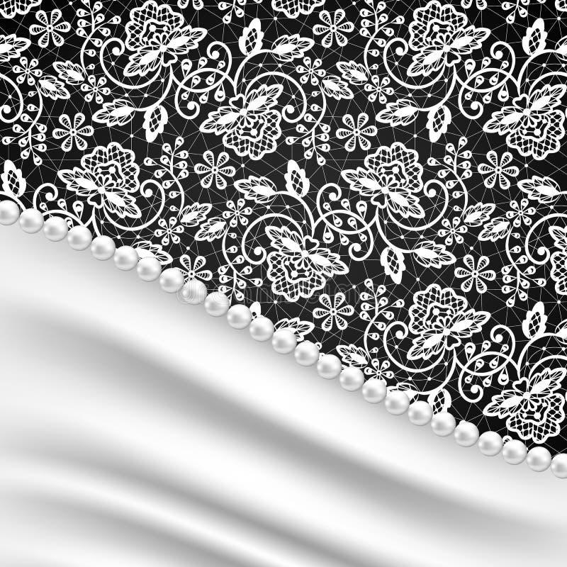Collana di seta della perla e dei drappi royalty illustrazione gratis