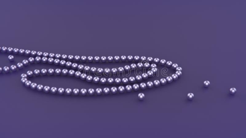 Collana porpora della perla su fondo ultravioletto royalty illustrazione gratis