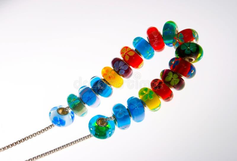 Collana variopinta della perla fotografia stock