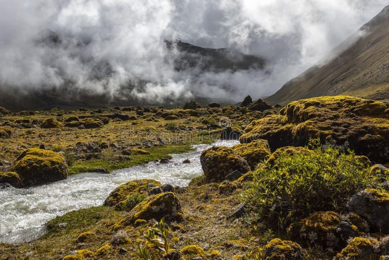 Collanes Valley in El Altar volcano royalty free stock photo