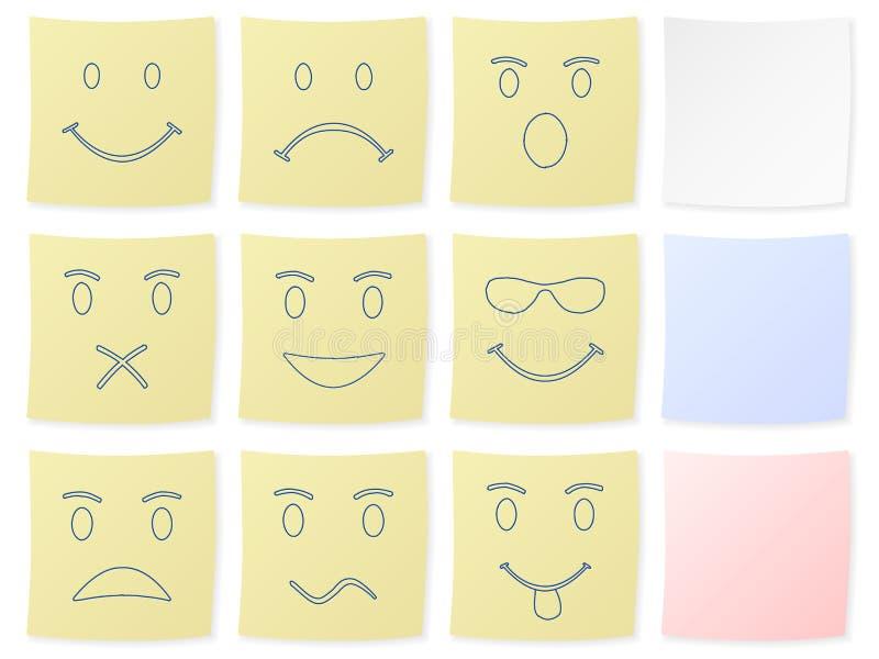 Collant d'émotion illustration de vecteur