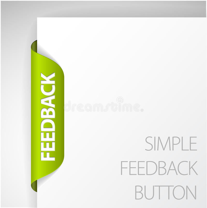 Collant de feedback illustration de vecteur