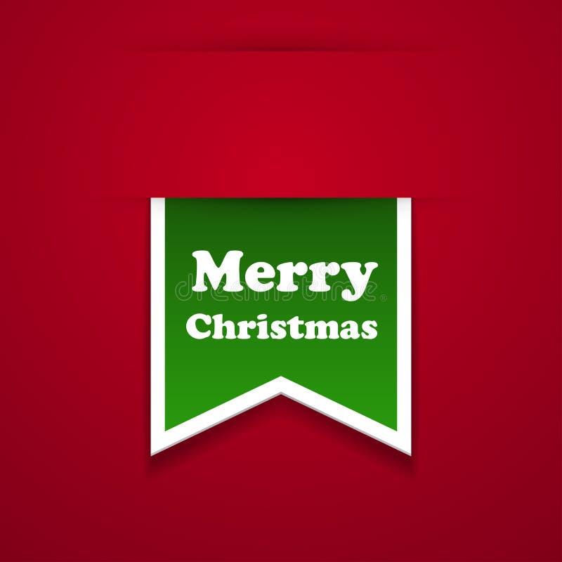 Collant de Joyeux Noël de bande. illustration de vecteur