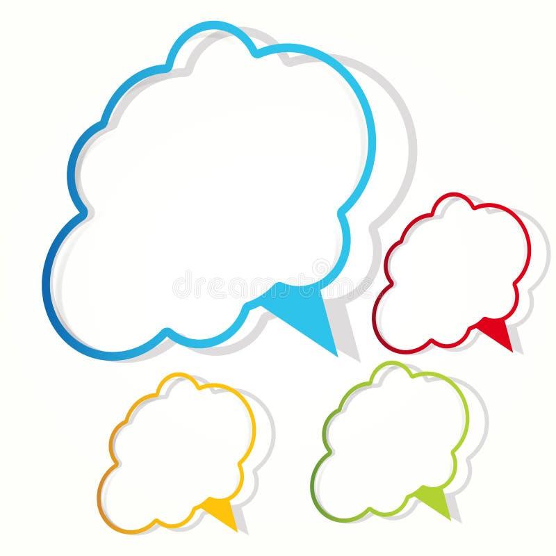 Collant de nuage. illustration de vecteur
