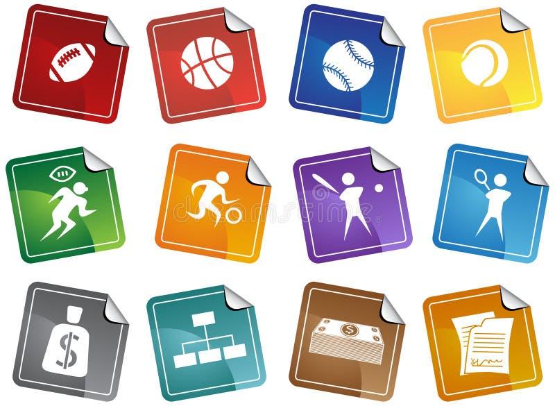 collant de sports de boutons illustration libre de droits
