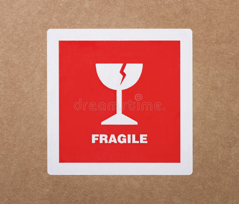 Collant fragile photo stock