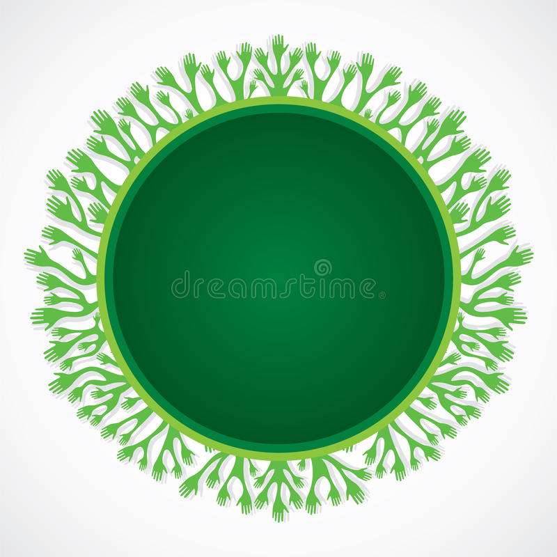 Collant vert de main illustration stock