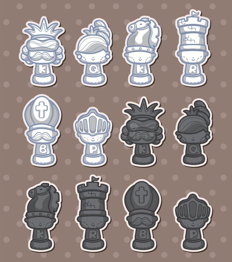 Collants d'échecs illustration de vecteur
