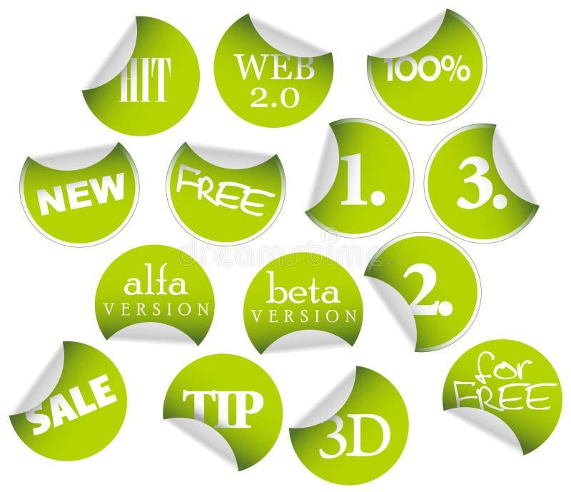 collants d'étiquettes d'insignes illustration stock