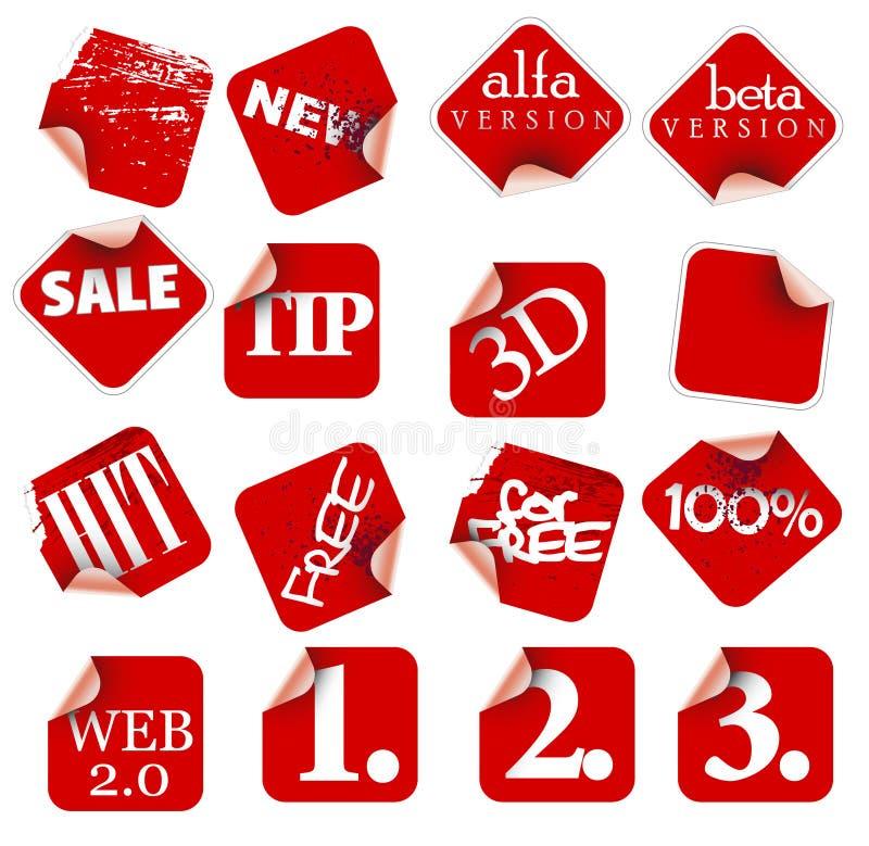 collants d'étiquettes d'insignes illustration libre de droits
