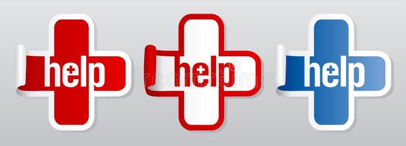 Collants d'aide. illustration libre de droits