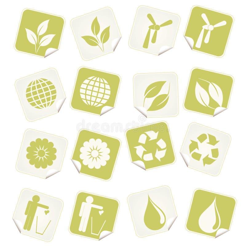 collants d'eco illustration stock