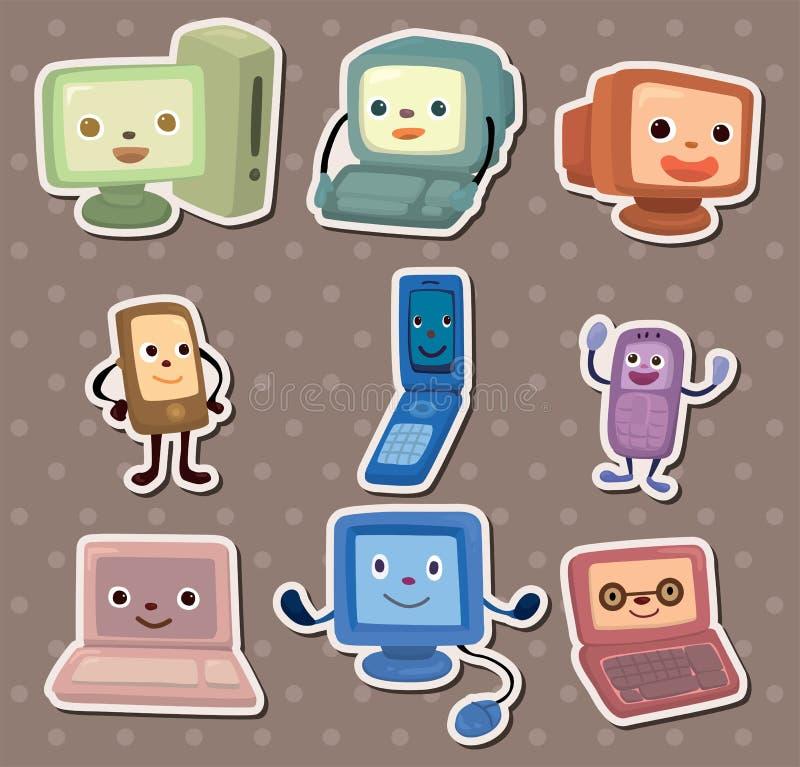 Collants d'ordinateur et de téléphone portable illustration libre de droits