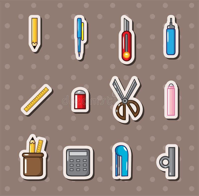 Collants de papeterie illustration stock