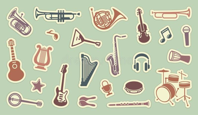 Collants des instruments musicaux illustration stock
