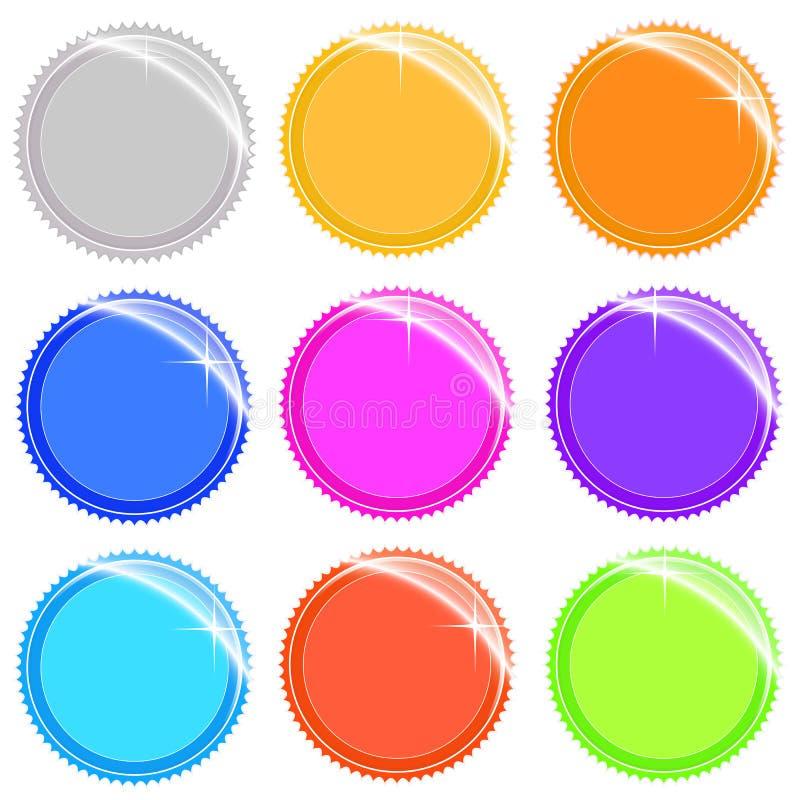 Collants et étiquettes brillants de Web illustration stock