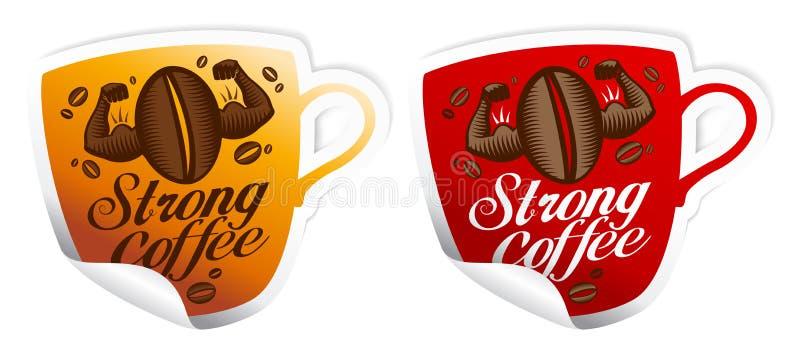 Collants intenses de café. illustration libre de droits