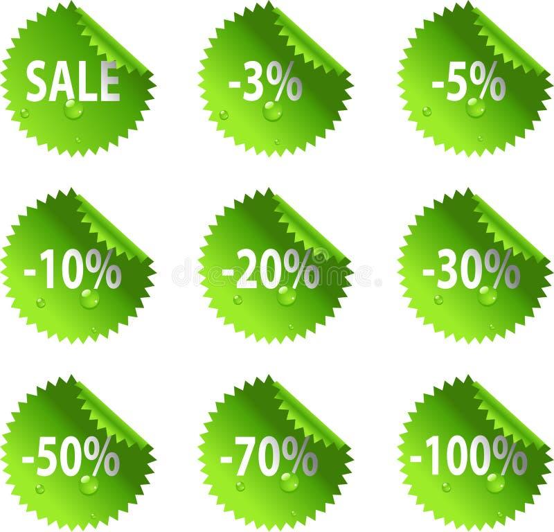Collants lustrés de vente de jour de rue Patrick vert illustration libre de droits
