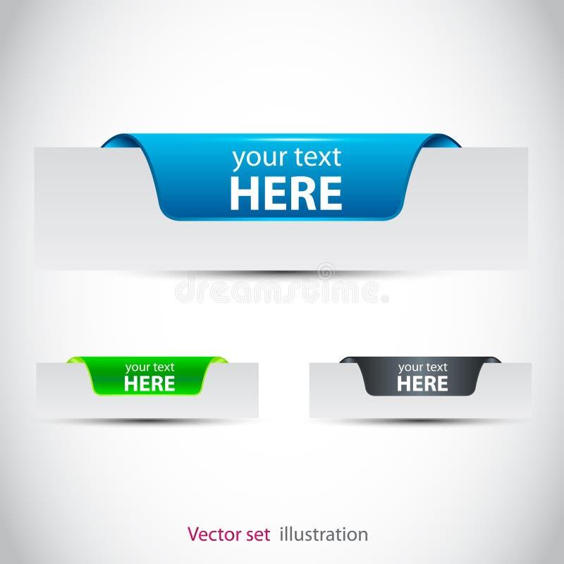 Collants pour la page (de Web) illustration stock