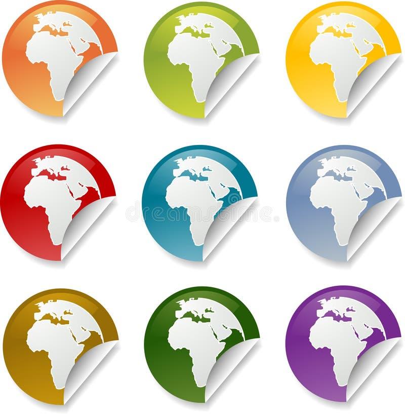 collants ronds de l'Afrique illustration stock
