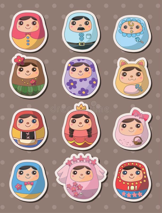 Collants russes de poupées illustration libre de droits