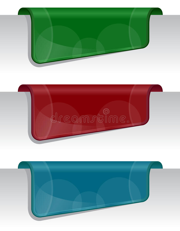 Collants sur le bord de la page (de Web) illustration stock