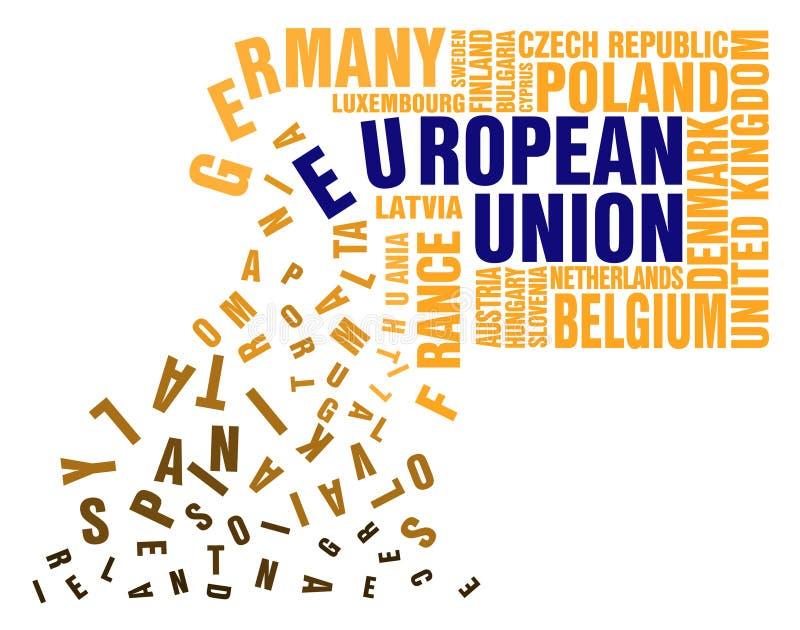 Download Collapse of European Union stock vector. Illustration of crossword - 20095241