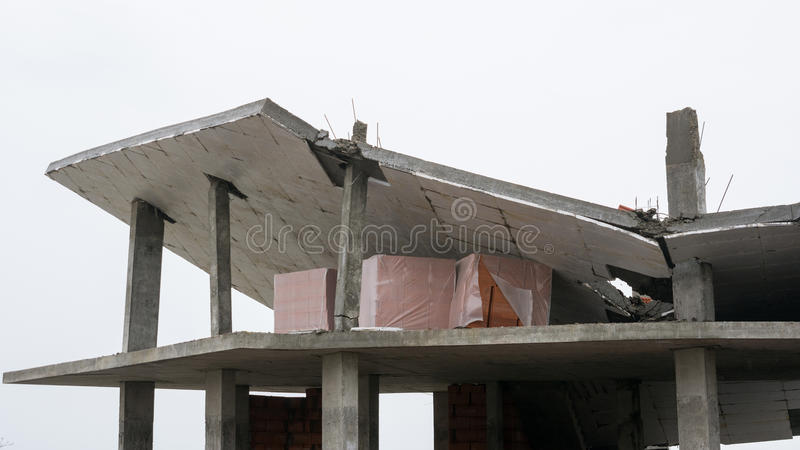 Download The Collapse Of Roof Of The Building When Unfair Stock Photo - Image: 83710306