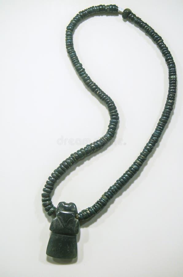 Collar antiguo de Costa Rica hecho del jade por los naturales imágenes de archivo libres de regalías