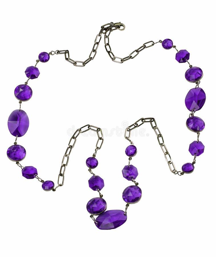 Collar con las piedras púrpuras fotos de archivo