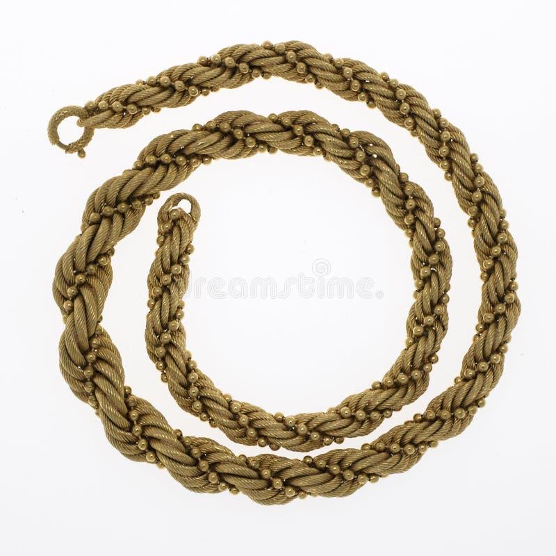 Collar de cadena del oro imagen de archivo libre de regalías