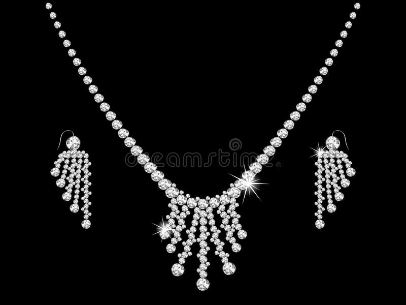 Collar de diamante ilustración del vector