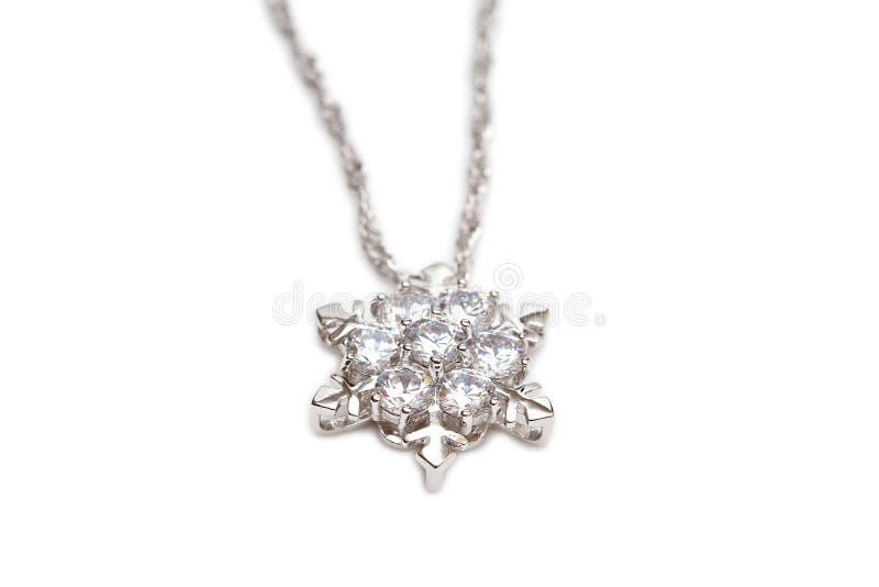 Collar de diamante chispeante imagen de archivo