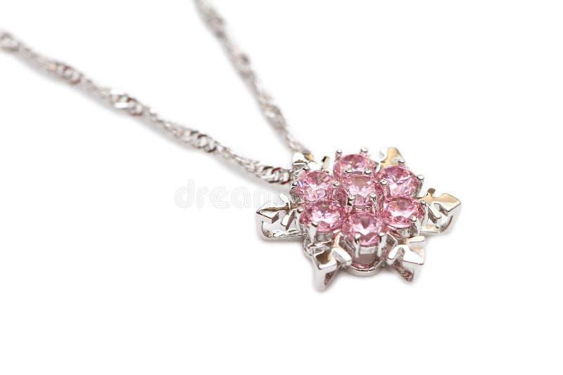 Collar de diamante chispeante fotografía de archivo libre de regalías