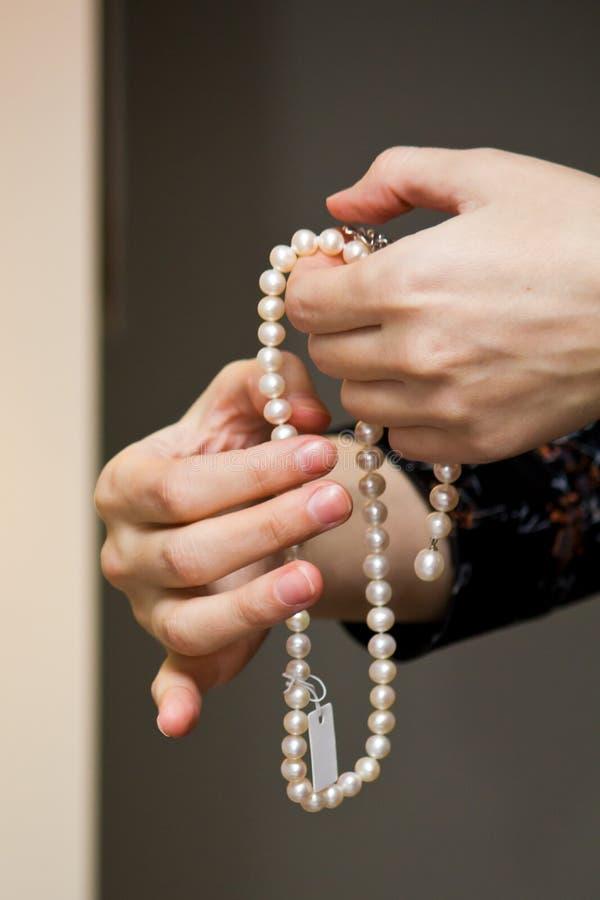 Collar de perlas II imagen de archivo libre de regalías