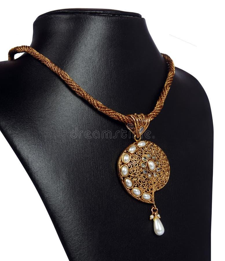 Collar indio del oro imagen de archivo