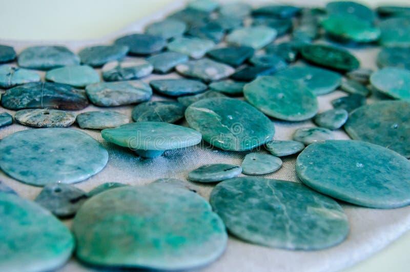 Collar maya antiguo del jade imagen de archivo