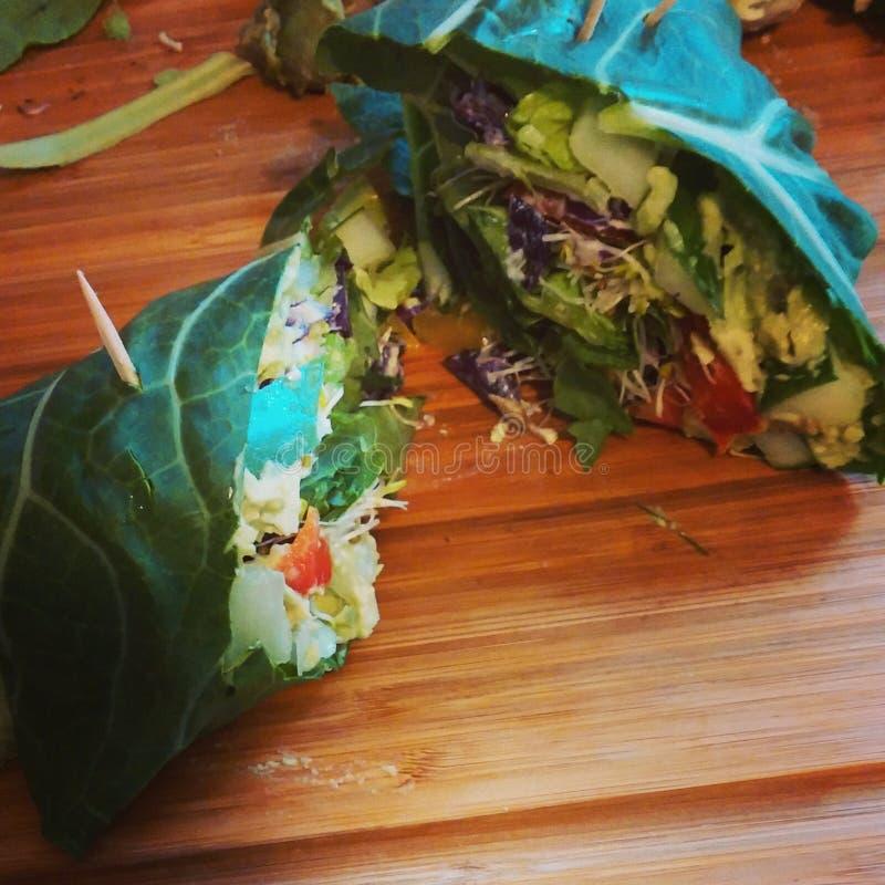 Collard veggie buritos zdjęcie stock