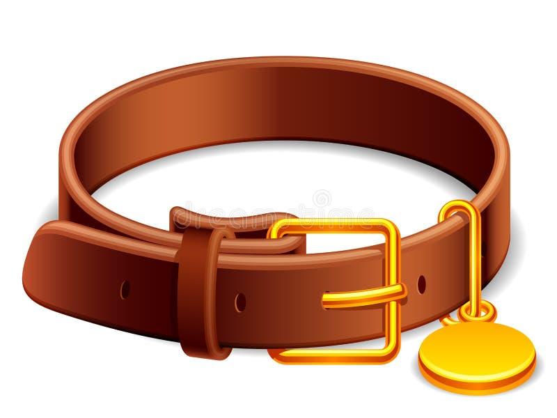 Collare di cane. illustrazione di stock