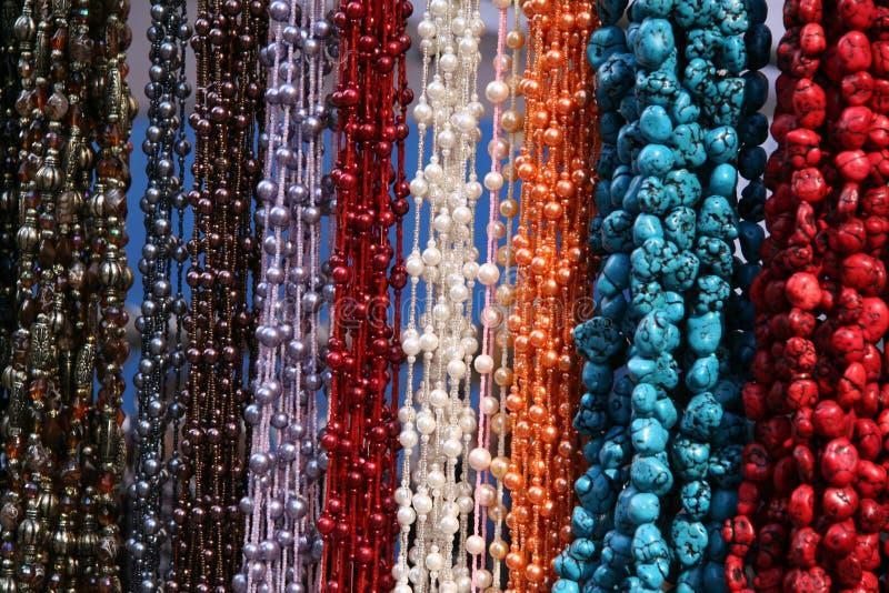 Collares Textured colgantes imagen de archivo libre de regalías