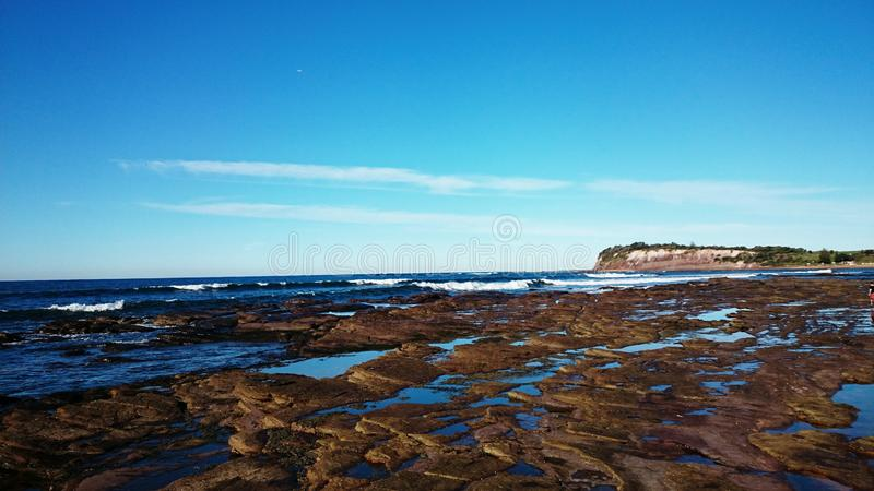 Collaroy Beach, New South Wales. The ocean view of Collaroy Beach, Sydney, New South Wales, Australia stock photo