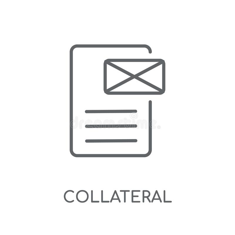 Collateral linear icon. Modern outline Collateral logo concept o royalty free illustration