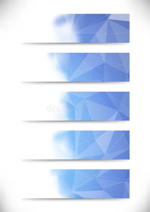 Colle bleu lumineux de cartes de visite professionnelle de visite de structure cristalline illustration libre de droits